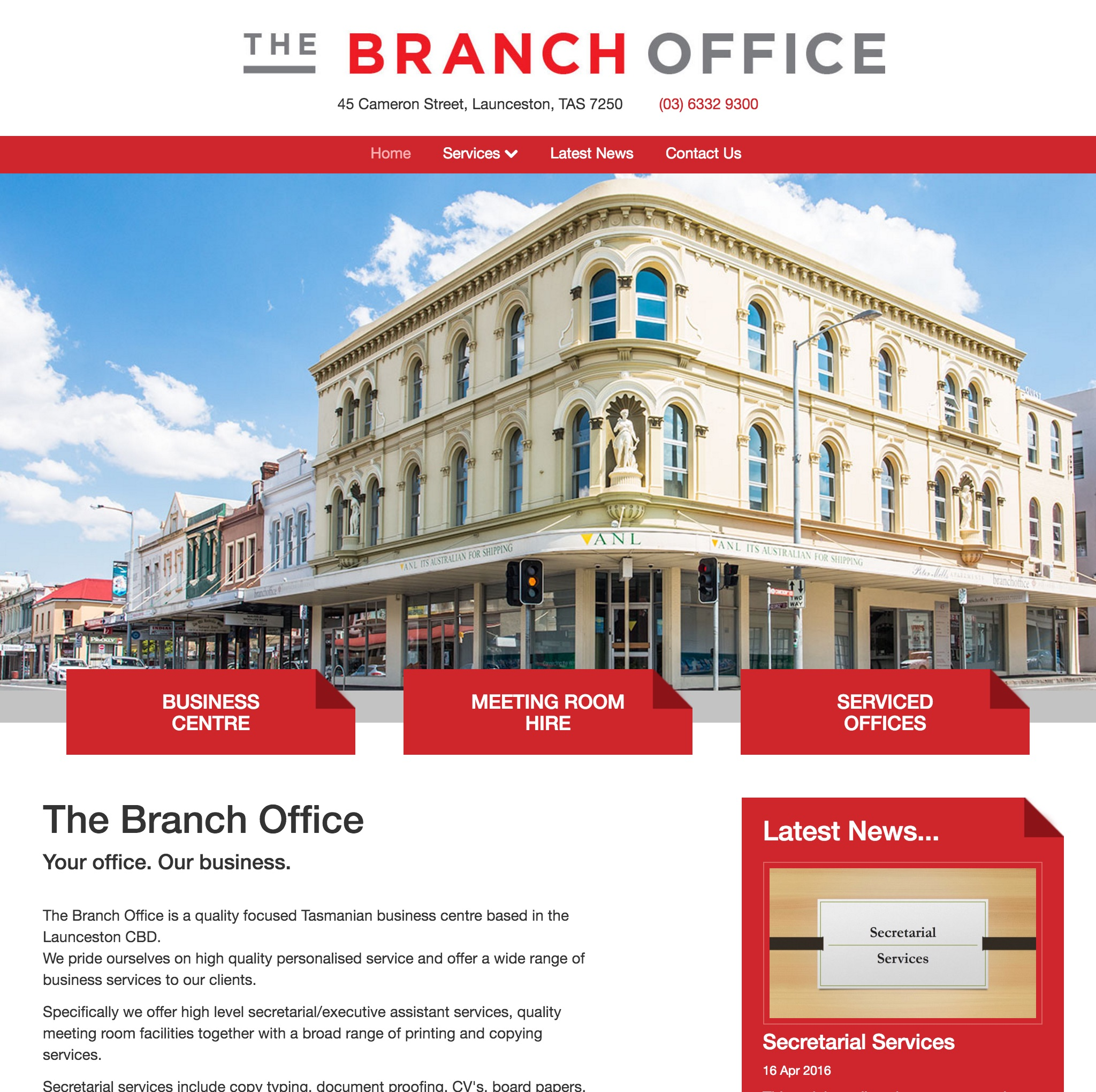 The Branch Office website