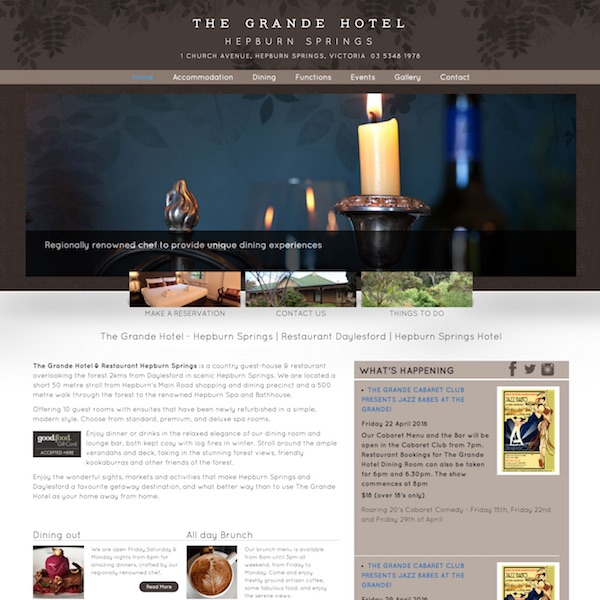 The Grande Hotel website